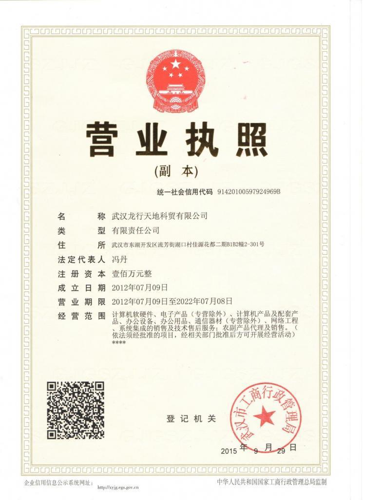 武汉龙行天地科贸有限公司 最新采购和商业信息