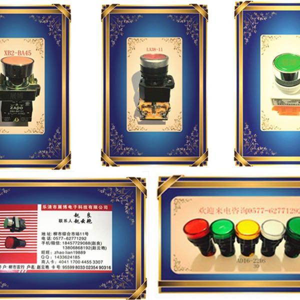 来自赵良发布的供应信息:批发各类信号灯指示灯按钮开关... - 乐清市展博电子科技有限公司